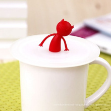 Good Sealability Silicone coffee Cup Cover with Little Man Sleeve