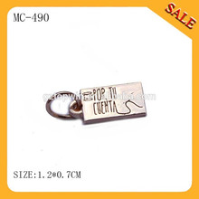 MC490 2015 new gold pendants for jewelry, jewelry brand charm tags