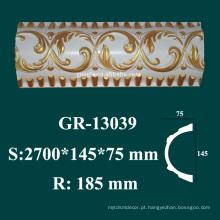 Produtos arquitetônicos molduras de alta densidade PU styrofoam coroa moldada à venda