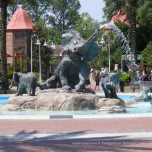 Vente chaude statues d'éléphant Grande sculpture en bronze