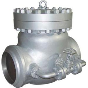 Cast check valve with bypass valve