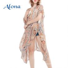 Kimono beach pareo beachwear capa de maiô