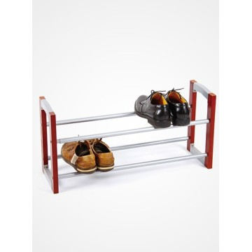2 Tie Flexible Wood Shoe Rack