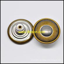 Botón de los pantalones vaqueros de cobre amarillo de dos colores