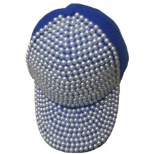 Promotion cheap good quality diamond baseball cap Rivet sports adjustable hat