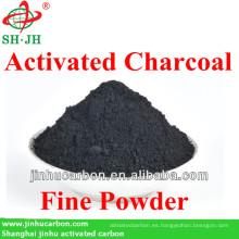 Carbón de leña activado por aserrín para productos farmacéuticos