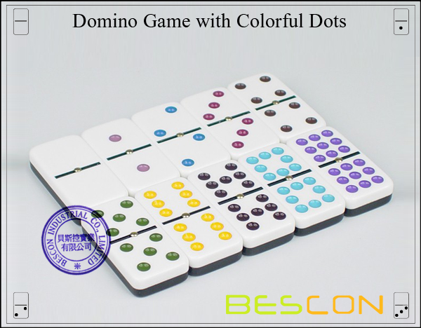 Domino Game with Colorful Dots-2