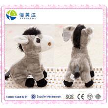 Cuddly suave parlante Electronic burro felpa de juguete personalizado