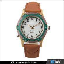 Vintage simple reloj de cuero pu, relojes de cuarzo para hombre japan movt