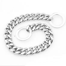 Großhandel Goldkette Hundehalsbänder Silver Plating Dog Choke Schlangenkette