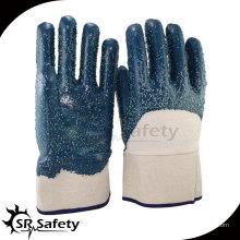Лучшие трикотажные нитриловые нитриловые перчатки с покрытием 3/4, рабочие перчатки, защитная манжета / масляные перчатки