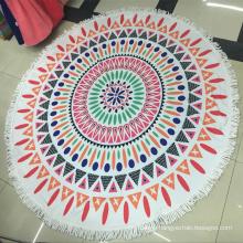 Custom printed microfiber roundie beach towel wholesale