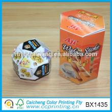 Custom design printed hexagonal cardboard snack boxes