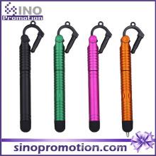 Stylo tactile à pointe en caoutchouc avec prise de poussière pour téléphone mobile