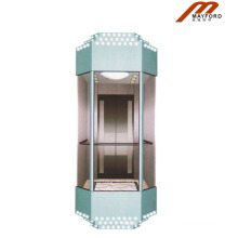 Machine Room Observation Elevator with Safety Glass
