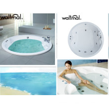 Round Embed Builtd-in Air Bubble Massage Bathtub