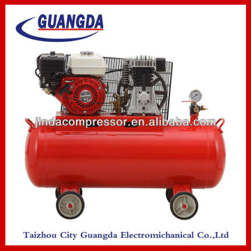 Portable gasoline engine air compressor