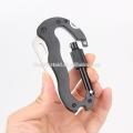 Multifunktions-Aluminiumkarabiner Schlüsselanhänger/Kletterkarabiner/Outdoor Survival Karabiner