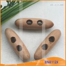 Moda de madera natural cuerno botón para las prendas de vestir BN8112