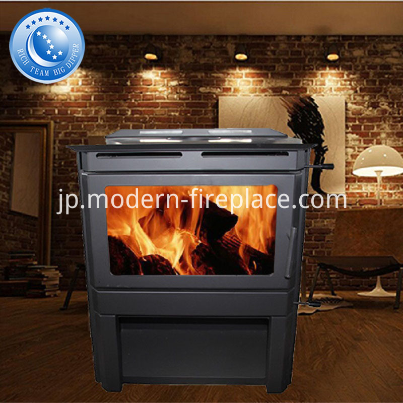 Steel Plate Wood Burning Stove Modern