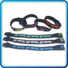 Custom Printed with Plastic Buckle Wristband for Decoration