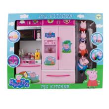 Nouvelle cuisine de jouet en plastique de porc rose avec En71