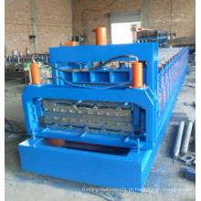 Máquina formadora de rolos de aço de dupla camada