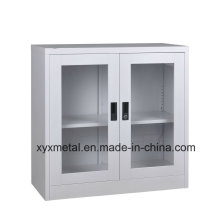 2 Doors Glass Short Ark Metal Steel Cabinet