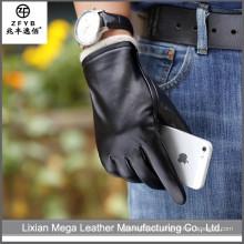 2016 los hombres vendedores calientes más nuevos forman los guantes de cuero