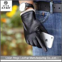 2016 newest hot selling Men Fashion Leather Gloves