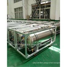 Horizontal Wheel-Type Cryogenic Lo2 Lar, Lco2 Gas Cylinders