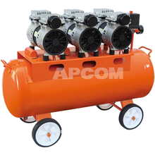 Low Noise APCOM Silent Food Air Compressor Oilless Screw Air Compressor Medical Oil Free Air Compressor 4kw 5kw 6kw 7.5kw