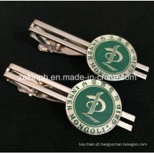 Empresa personalizado presente esmalte macio com prendedor de gravata de epóxi