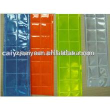cinta reflectante amarilla de PVC cristal