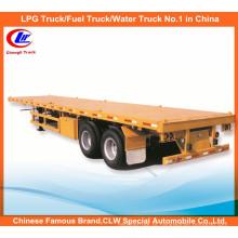 40ft 2 Axle Container Loading Flatbed Trailer Semi Reboque Flatbed