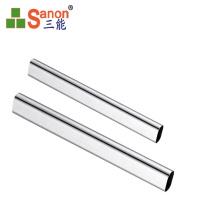 Decorative Welded Stainless Steel  Inox 316 Oval Shape Tube For Handrail / Window / Door