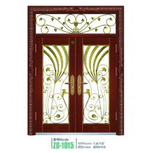 Paneles de puerta de hierro forjado vidrio