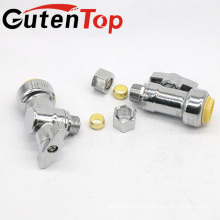GutenTop High Quality Lead Free Brass 1/4inch TURN ANGLE VALVE with1/2PUSH FIT X 3/8 OD COMPRESSION