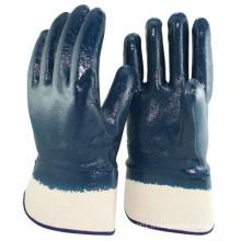 NMSAFETY gants enduits de nitrile bleu pour l'industrie pétrolière