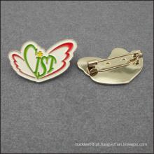 Personalize o emblema de metal forma de dinossauro Hard esmalte lapela emblema distintivo