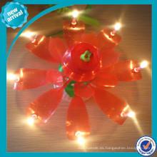Vela de la flor hermosa para el uso del cumpleaños del partido
