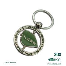 Heißes Verkaufs-drehbares Andenken-Emaille-kundenspezifisches Logo Keychain