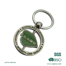 Hot Sale Rotatable Souvenir Enamel Custom Logo Keychain