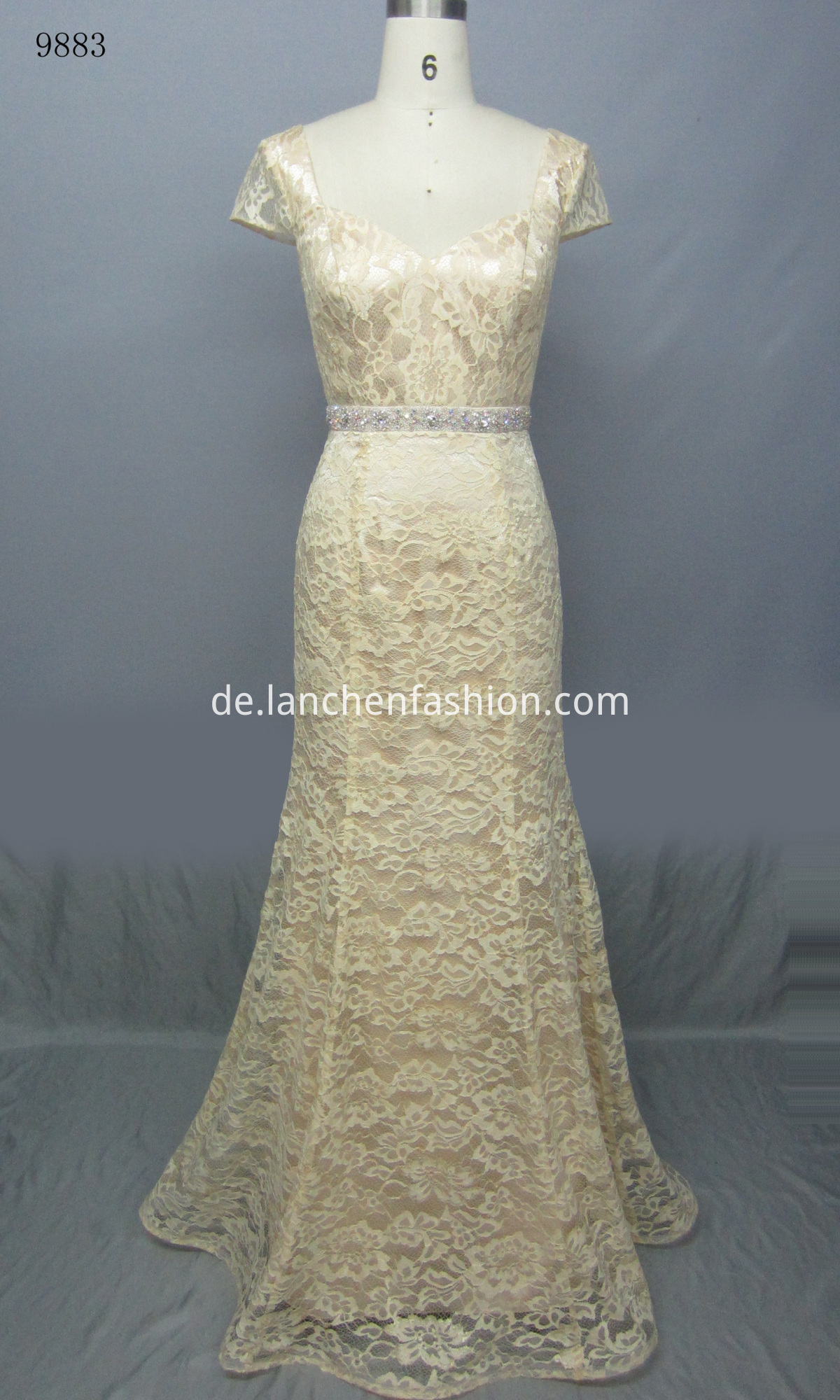 Sleeve Lace Evening Dress