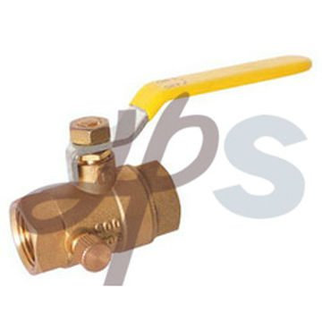 600WOG brass ball valve with drain