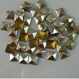 Silver 7mmx7mm Pyramid Hot Fix Studs