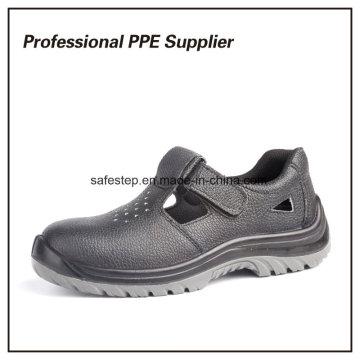 Chaussure de travail d'été respirante en cuir véritable pas cher