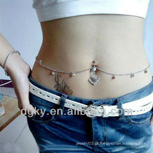 Novo design corpo piercing jóias indiano barriga cadeia
