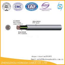 Câble en plastique isolé de fil de contrôle de cuivre de 450 / 750V KVV / KVVP / KVVR / ZR-KVVRP / ZR-KVV