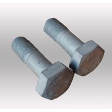 Pernos hexagonales de acero inoxidable / acero al carbono y tuercas tuercas y tornillos hexagonales con recubrimiento de zinc / HDG (DIN933 y DIN934)